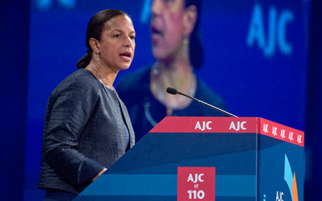 National Security Adviser Susan Rice speaks to the American Jewish Committee's annual Washington conference on June 6 2016. (Photo by Ron Sachs)