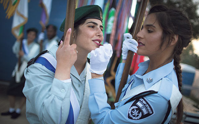 Soldiers at Israel's 67th Independence Day ceremony at Mount Herzl in Jerusalem, April 22, 2015.