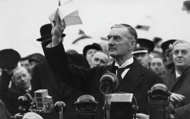 Once Germany's invasion of Poland made clear his colossal misjudgment, Chamberlain did not run away from his mistake. (Central Press/Getty Images)