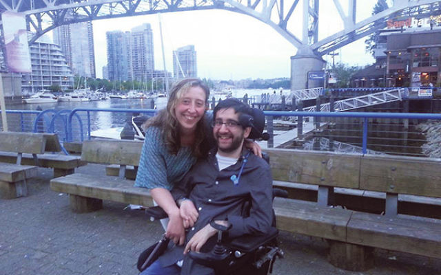 Gabe Chesman with his girlfriend, Meriah Main, in Vancouver