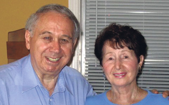 """Survivor Erwin Weiss takes care of his wife, Regina, with JFS of MetroWest assistance funded by the Claims Conference, which, he says, """"helps me keep my health and my sanity."""""""