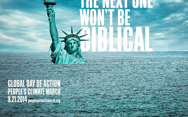"""Greenfaith's Rabbi Lawrence Troster said, """"The march is the message…, a grassroots effort to push governments to create and act on a treaty, because time is running out."""""""