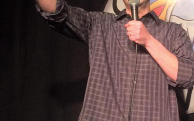 Comedian Alex Bernstein in the spotlight at Scotty's Comedy Cove in Springfield.