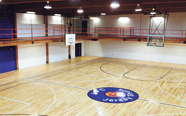 The newly completed basketball court at the soon-to-open Jewish Community Center Jersey Shore in Deal.