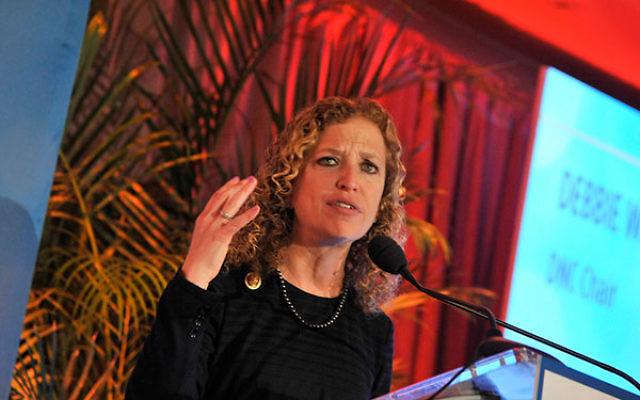 Debbie Wasserman Schultz speaking at a gala in Washington, D.C., March 3, 2015. (Kris Connor/Getty Images)