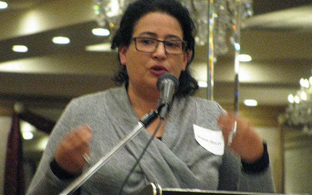 """Sharon Dolev told members of New Jersey Peace Action if weapons of mass destruction are banned, """"all nations of the Middle East can all sit together and create trust and build a better path for peace."""""""