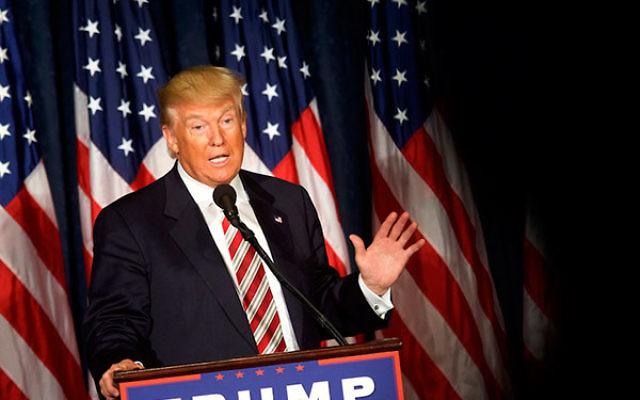 Donald Trump delivering a speech in Philadelphia, Pennsylvania, Sept. 7, 2016. (Mark Makela/Getty Images)