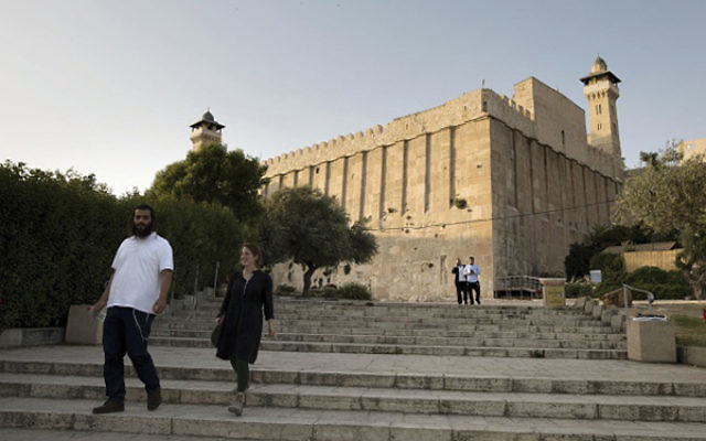 The Tomb of the Patriarchs in Hebron was approved by the U.N. as a Palestinian world heritage site. MENAHEM KAHANA/AFP/Getty Images