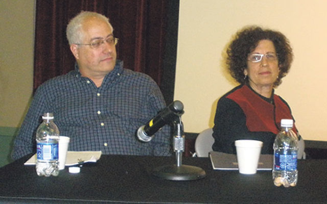 Dr. Michael Feige and Bildner Center executive director Dr. Yael Zerubavel appeared together at a 2012 panel discussion at Rutgers.