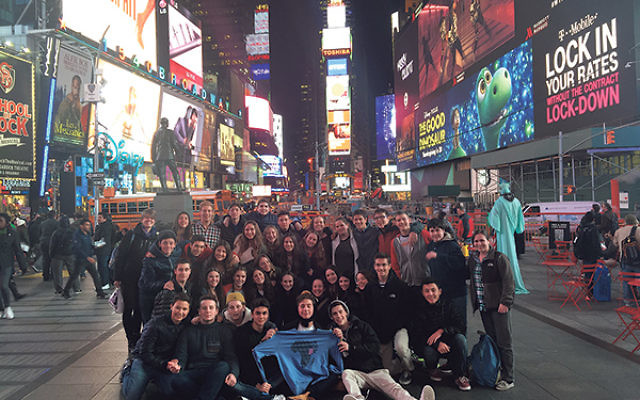 The GOA and Mexican students took a trip to Times Square and saw a Broadway show.