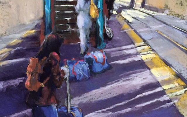 Jeri Greenberg's painting Track 2 (Late Train) won Best in Show at the 2015 Gaelen Juried Arts Show and Sale.