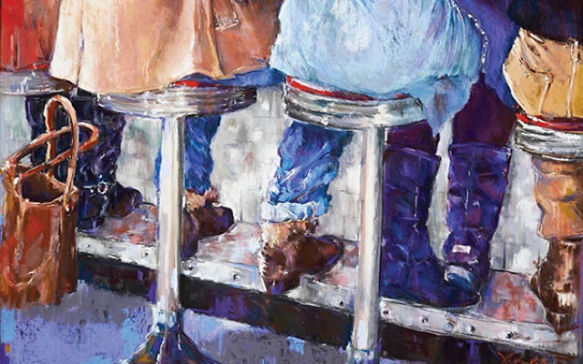 """""""At the Counter"""" by Jeri Greenberg, Norbert Gaelen Best in Show"""