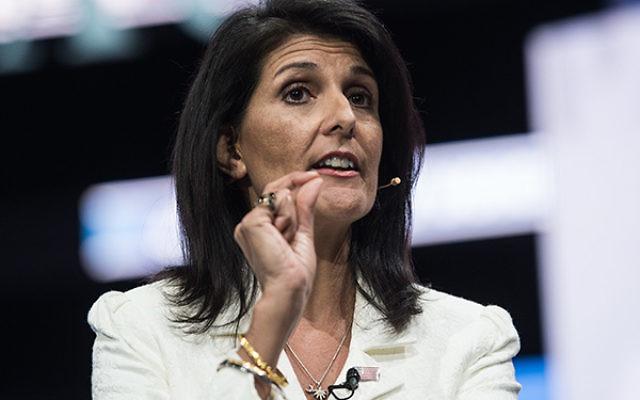 "Ambassador Nikki Haley said her staff will watch Iran ""like a hawk."" Getty Images"