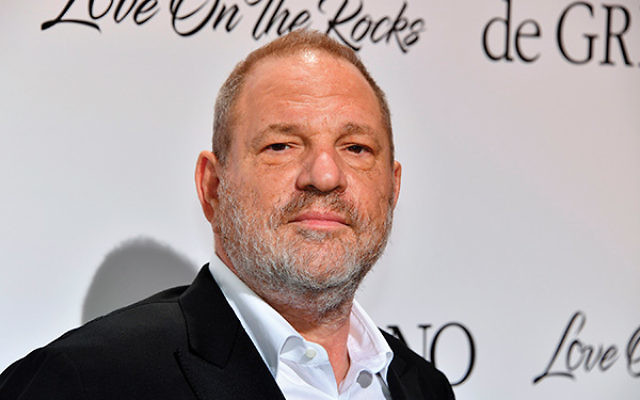 """Tarnished Hollywood producer Harvey Weinstein and """"Big Bang Theory"""" actress Mayim Bialik. Some read her Times op-ed as blaming women for their clothing choices. PHOTOS Getty Images"""