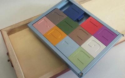 Puzzle pieces convert into a menora