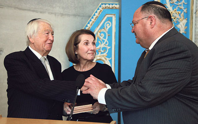 On May 30, Suzanne and Lenny Goldschein visited Yad Vashem for a ceremonial unveiling of their plaque in memory of the 128 victims of the Holocaust who died in the Gauting Sanatorium following the war. They were also presented with the Key to Yad Vashem b