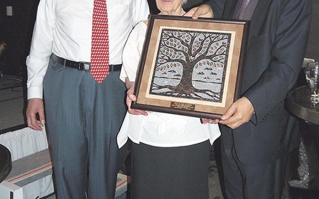 Honorees Paula and Jerry Gottesman with Gottesman RTW Academy head of school Moshe Vaknin.
