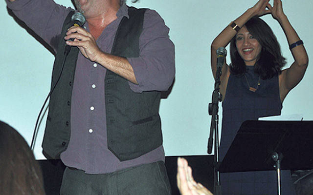 Gabriel Meyer Halevy and Indian vocalist Priya Darshini sing and dance at the Nov. 16 concert.