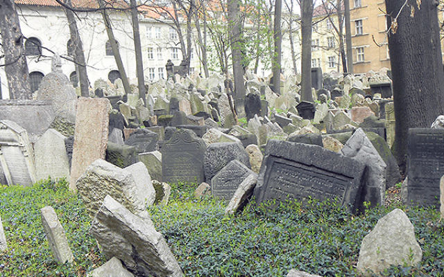 The old Jewish Cemetery in Prague — a metaphor for Jewish history in Europe.