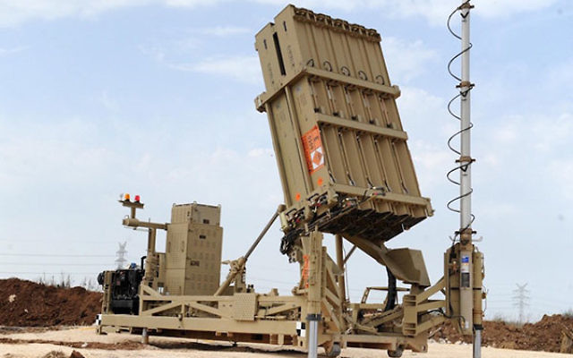 An Iron Dome anti-rocket defense system battery in the Tel Aviv area, Nov. 16, 2012. (Alon Besson/Ministry of Defence/Flash90)