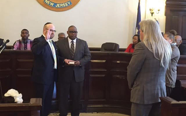 Judge Seth Dombeck at his swearing-in