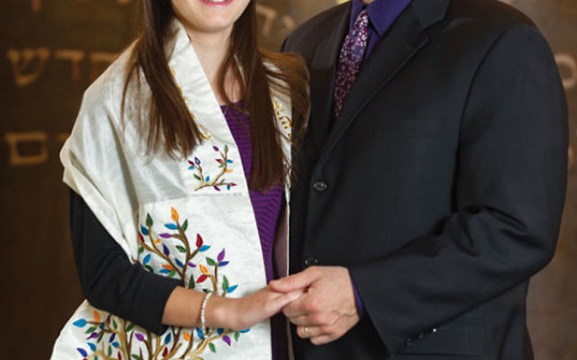 Izzy with her father Michael Rosenstark