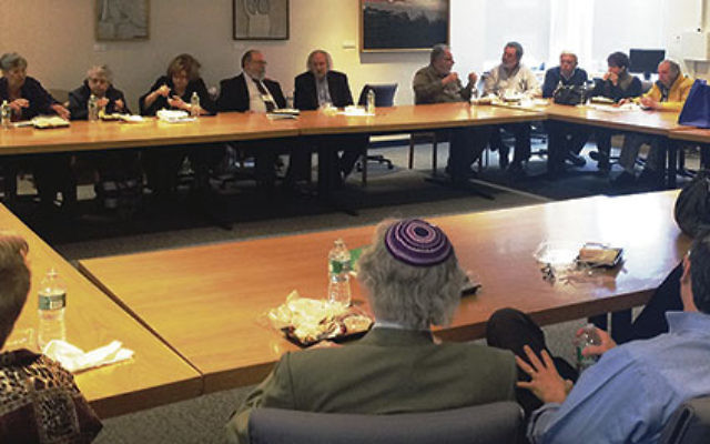 Attendees at Jewish University for a Day participated in a concentrated learning experience at Monmouth University.