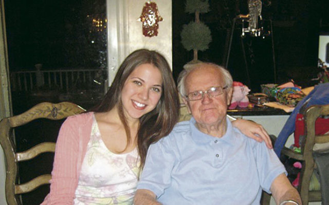 Jessica Katz and her grandfather, Abram Belzycki, who died in 2011 at age 95.