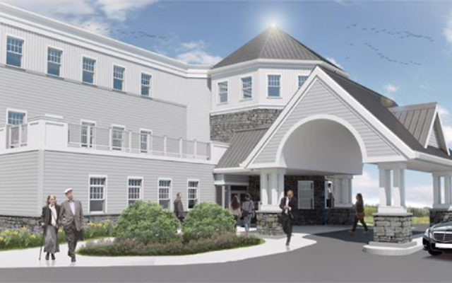 An artist's rendering of the entrance to the new nursing home.