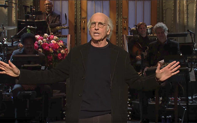 """Shoah pick-up lines? Larry David's """"Saturday Night Live"""" routine renews debate about Holocaust humor. Screenshot from YouTube"""