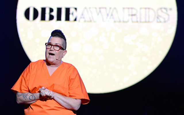 Lea DeLaria performing onstage at the 61st Annual Obie Awards at Webster Hall in New York City, May 23, 2016 .