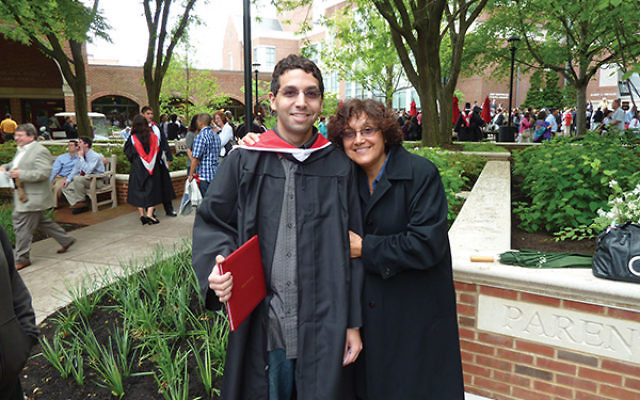 Eta Levenson with son Eric at his graduation from Muhlenberg College in May 2010. Courtesy Eta Levenson