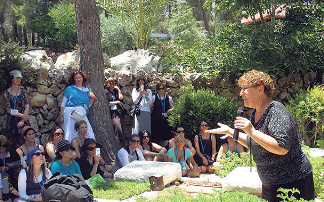 At Mount Herzl, Israel's national cemetery, the Torah Links women are addressed by Miriam Peretz, who lost two sons in Israel's wars, Uriel in Lebanon in 1998 at the age of 22 and Eliraz in Gaza in 2010 at age 31.