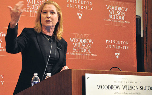 Tzipi Livni, in her talk in Princeton, said the price of not having an agreement between Israel and the Palestinians is greater than the price of having one.