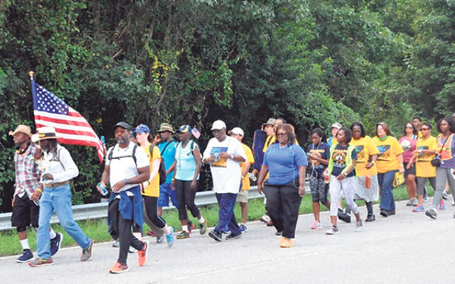 The NAACP is sponsoring an 860-mile march for civil rights.