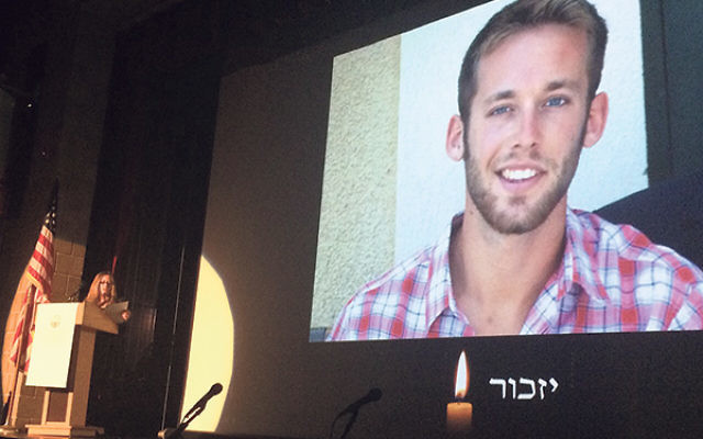 A memorial tribute to Matan Gotlib was held April 21 at the federation's Yom Hazikaron commemoration.