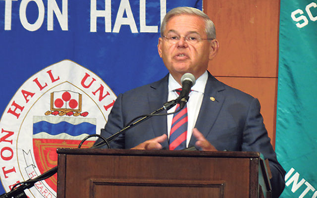 "Sen. Robert Menendez said the Iran deal ""does nothing more than delay the inevitable"" and ""isn't a deal we will make."""