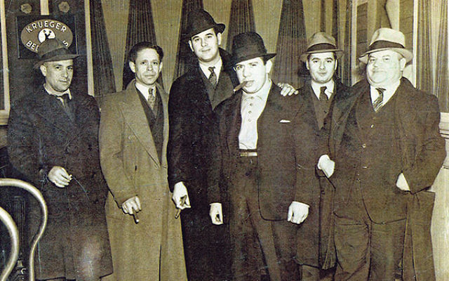 Members of the Minutemen, with its founder, Nat Arno, with cigar, at Krueger Auditorium in Newark, 1936. He secretly worked with the U.S. government to infiltrate and break up the Nazi Bund meetings.