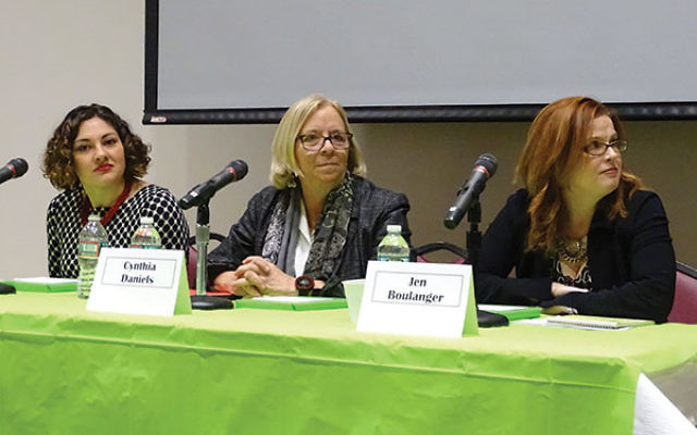 NCJW, Essex County hosted a panel of experts on reproductive rights. From left, Nicole Cushman, Cynthia Daniels, and Jen Boulanger.