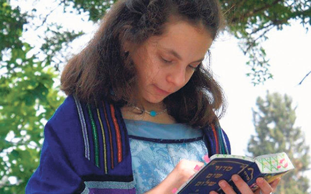 """Golda Och Academy student Hayley Nagelberg — shown here at her bat mitzva several years ago in Israel — was asked if she was """"brain dead"""" by a CNN executive when she confronted him about the news outlet's coverage of Israel.&"""