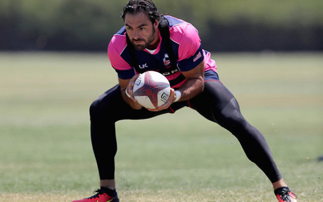 Nate Ebner practicing at the Olympic Training Center in Chula Vista, Calif., July 14, 2016. (Sean M. Haffey/Getty Images)