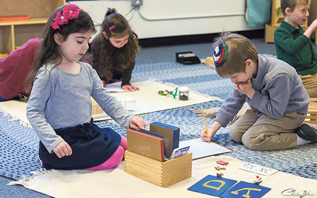"Youngsters at Yeshivat Netivot Montessori in East Brunswick; head of school Rivky Ross said that ""creating one organization representing everyone"" will further efforts to lower costs and increase efficiency."
