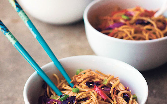 Cold Sesame Noodles with Chicken and Vegetables