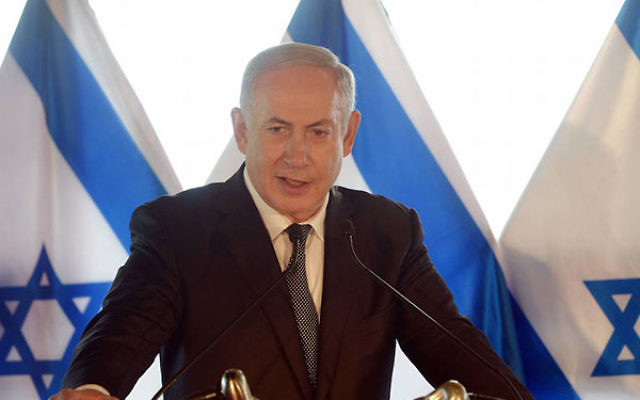 Prime Minister Benjamin Netanyahu announcing Israel's agreement with Turkey at a press conference in Rome, Italy, June 27, 2016. (Amos Ben Gershom/GPO)