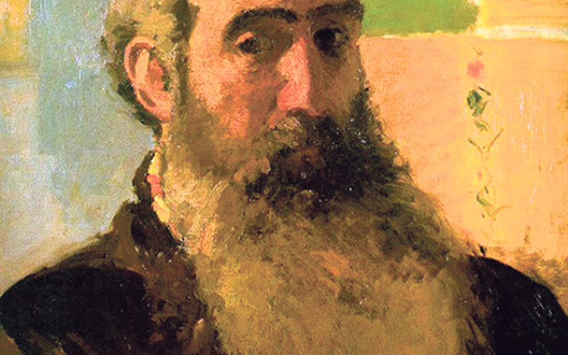 A self-portrait of Pissarro in 1873, when he was 43 years old