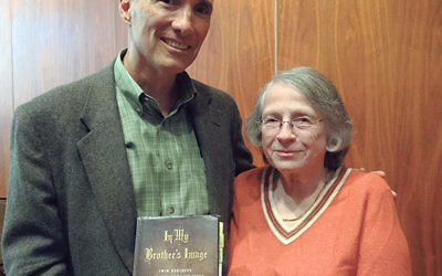 At Oheb Shalom's book review event on Oct. 19, In My Brother's Image author Eugene Pogany was reunited with his former French teacher, Ann Ginsberg, for the first time in 45 years.