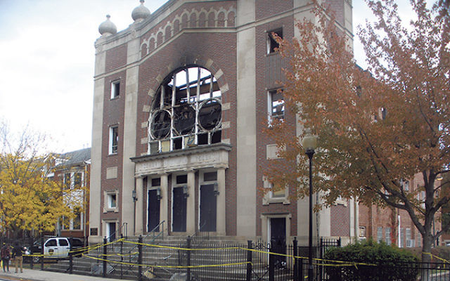Poile Zedek's roof collapsed during the Oct. 23 fire.