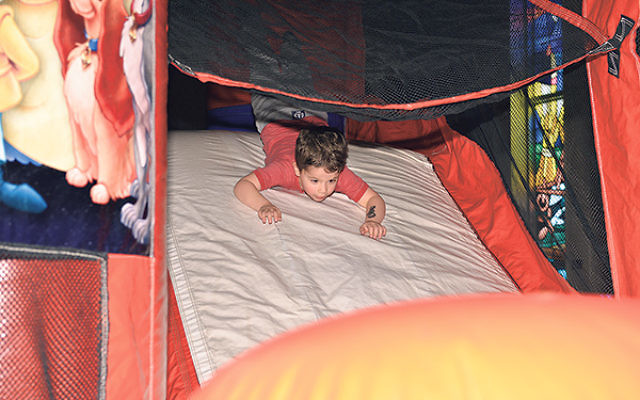 Kids of all abilities are being accommodated at Temple Shaari Emeth's Purim Carnival.