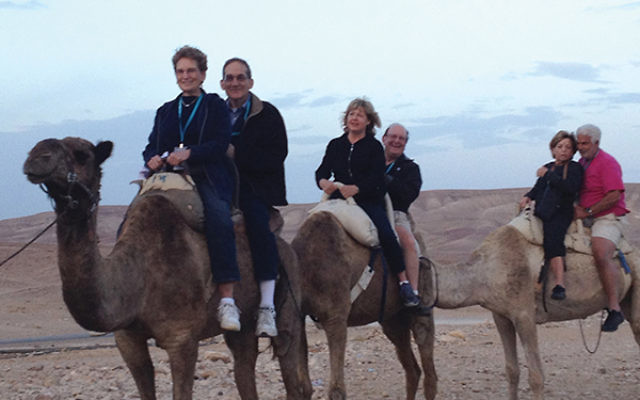 Discovering Israel on a federation mission can include first-time experiences like riding camels, as well as behind-the-scenes opportunities available only to such groups.