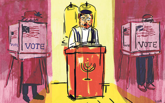 Rabbis in swing states say their High Holy Days sermons won't address the election head on, but will touch on more general civic themes.